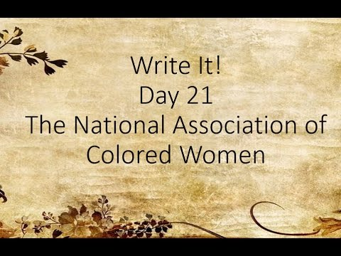 Write It! - The National Association of Colored Women