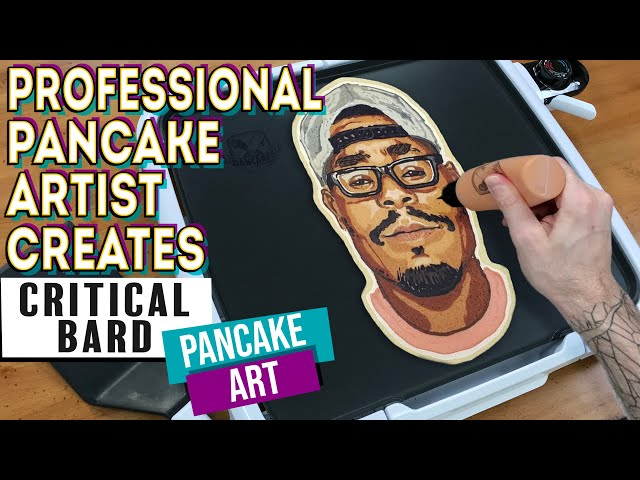 Professional Pancake Artist Creates - Critical Bard Pancake Art Portrait