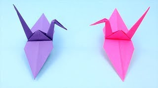 How To Make Easy Origami Crane - Origami Tutorial