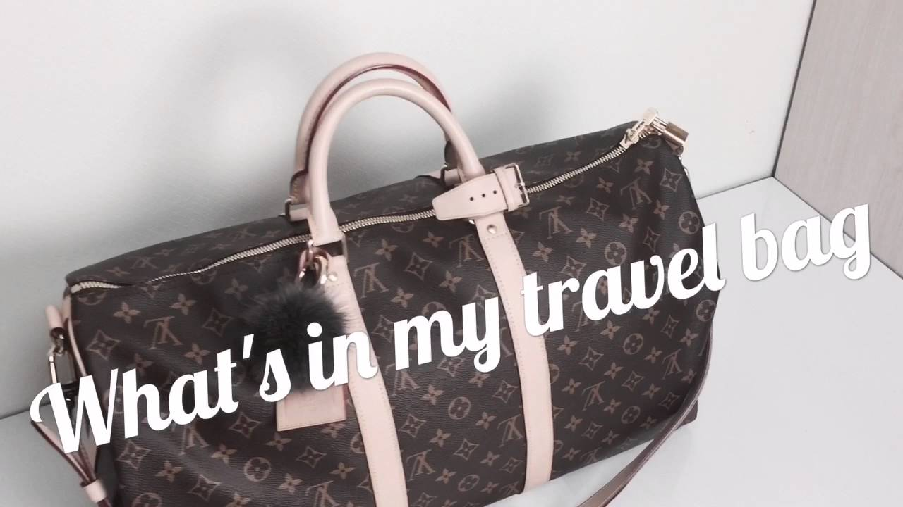 69144fa7ee16 What  in my travel bag (LV Keepall 50) - YouTube