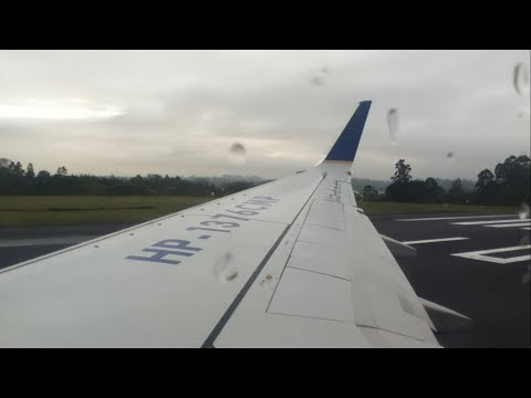 Copa Airlines (Star Alliance) CM7501 MDE-BOG Pushback, Safety Video, Engine Start, Takeoff