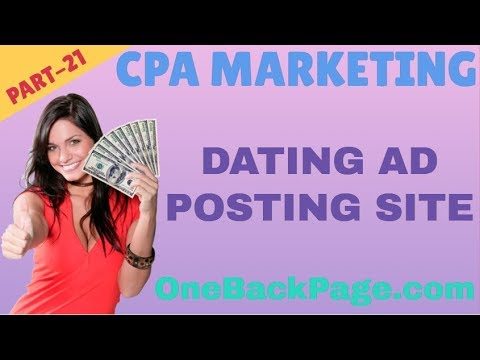 Top CPA Dating Free OneBackPage Ad Posting Site 2019   Cpa Marketing A To Z Bangla Tutorial