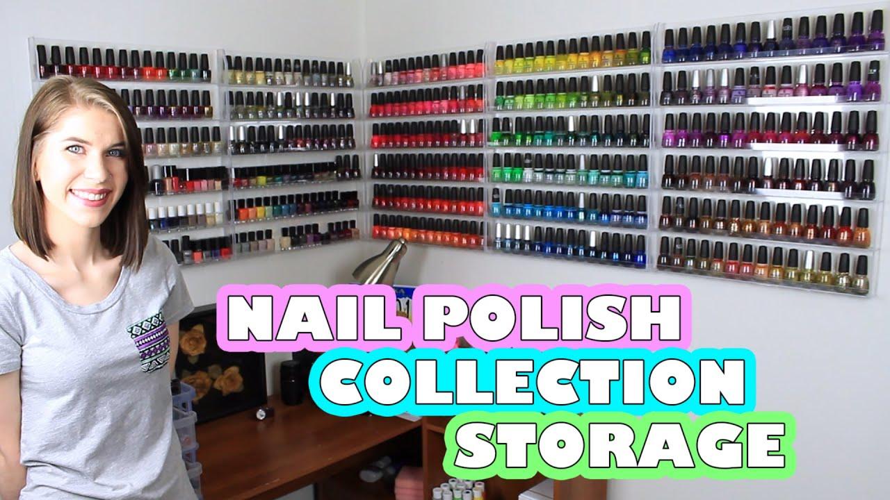 Uncategorized Nail Polish Wall Rack nail polish collection storage acrylic wall racks youtube