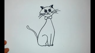 Kolay kedi çizimi / How to drawing cat?