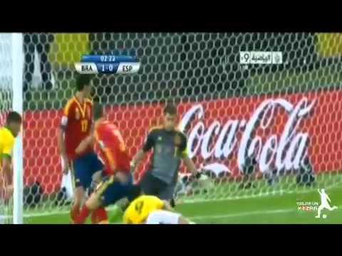 نهائي كأس القارات ملخص البرازيل واسبانيا