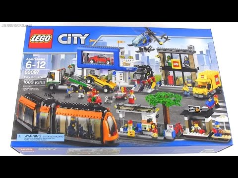 Built in 60 seconds: LEGO City Square 60097