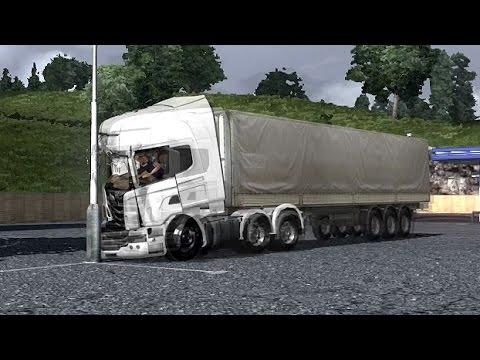 PhysX in ETS2 Crash Test Euro Truck Simulator 2 Движок PhysX в ЕТС 2