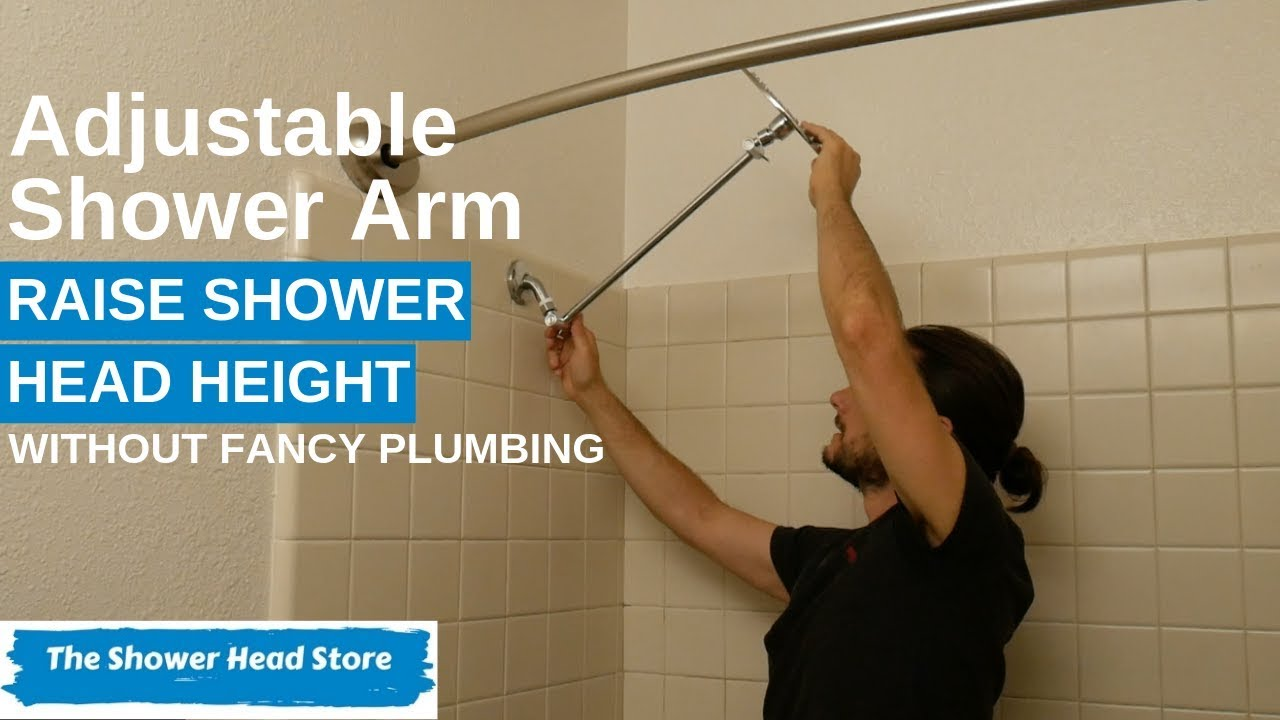 How To Install An Adjustable Shower Arm To Raise Or Lower The Height Of Your Shower Head Youtube