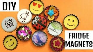 6 DIY BOTTLE CAP FRIDGE MAGNETS | UPCYCLE