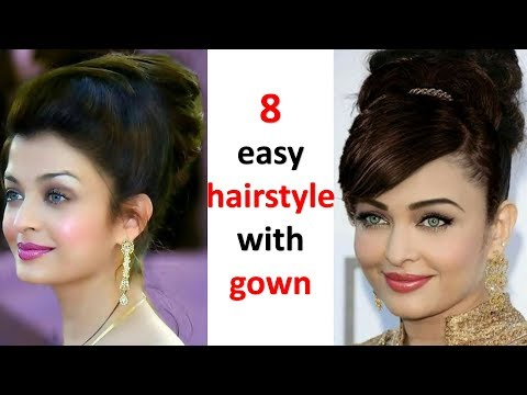 8 simple hairstyle with gown | bun hairstyle | trending hairstyle | wedding hairstyles | hairstyle thumbnail