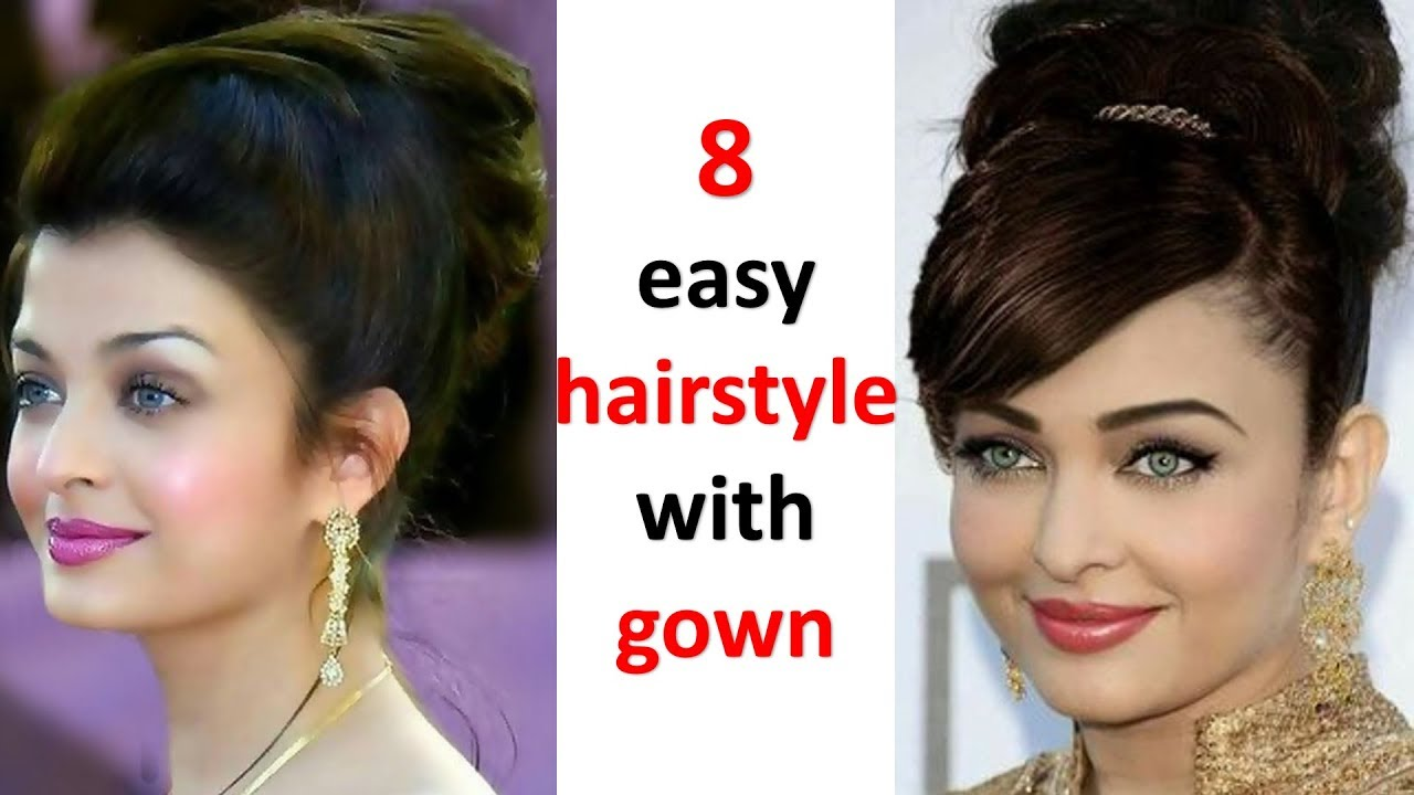 12 simple hairstyle with gown  bun hairstyle  trending hairstyle  wedding  hairstyles  hairstyle