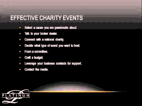 How to Host Charity Events That Really Work!