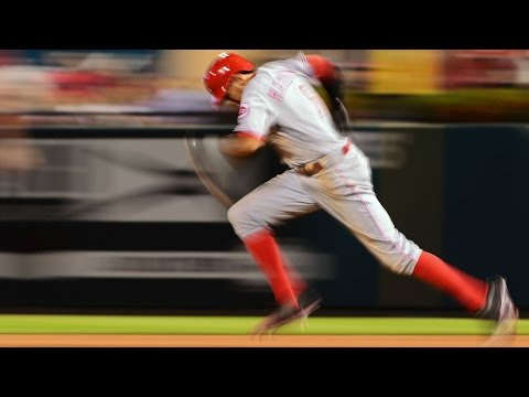 Reds' Billy Hamilton on the art and technique of stolen bases