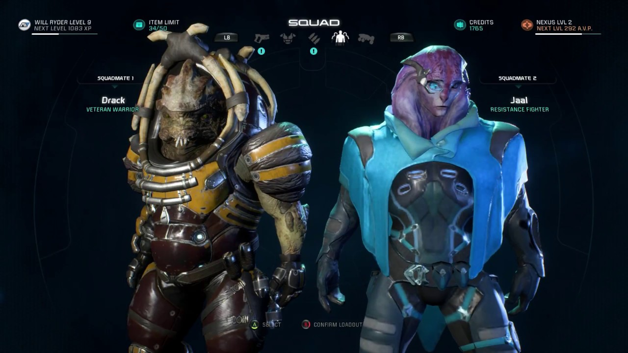 How To Pick Your Squad Mass Effect Andromeda Youtube