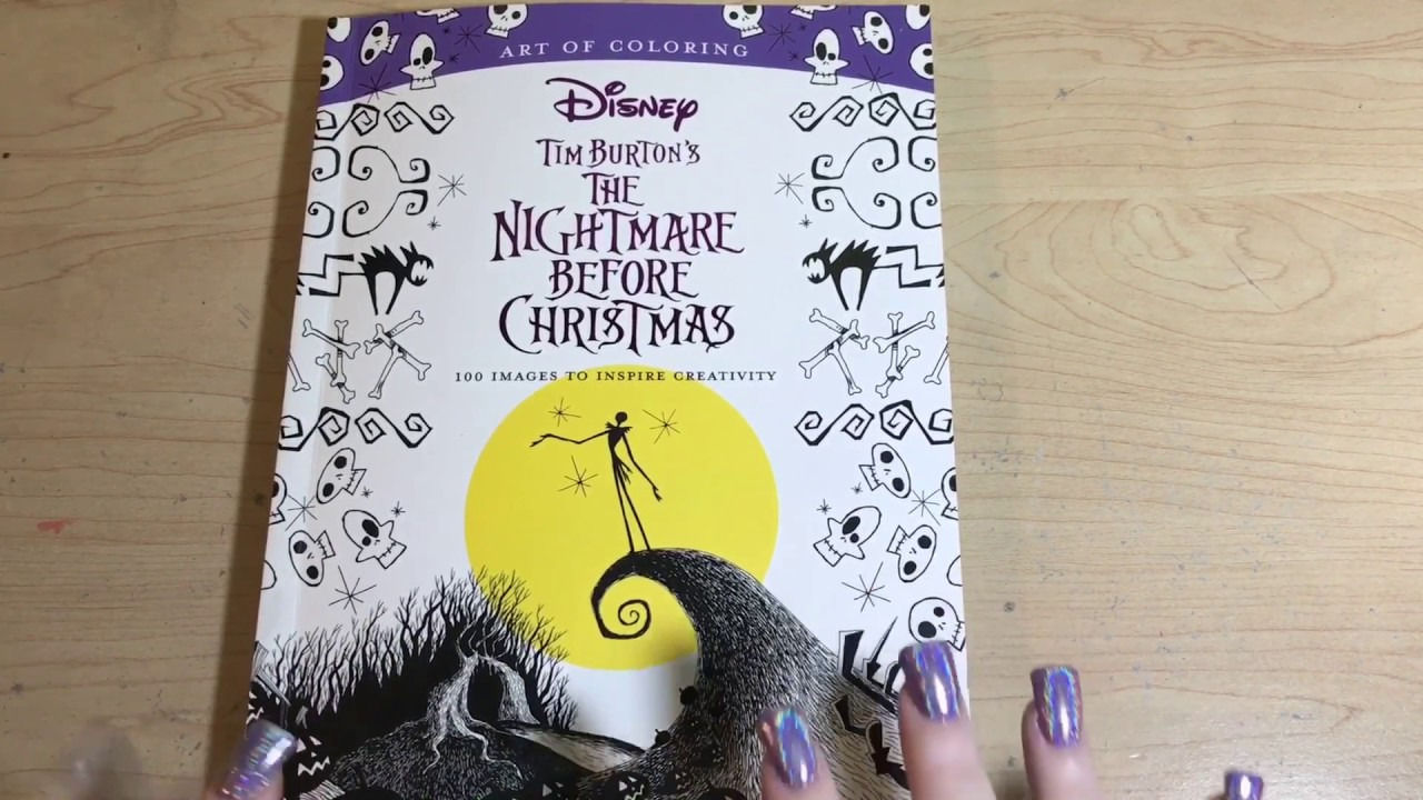 closed giveaway flip through of the nightmare before christmas coloring book - Nightmare Before Christmas Coloring Book