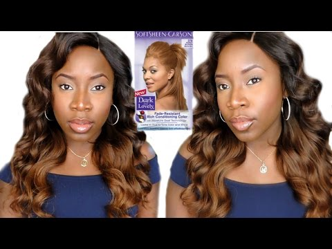 Black To Honey Blonde Hair || Dark And Lovely Honey Blonde Box Dye
