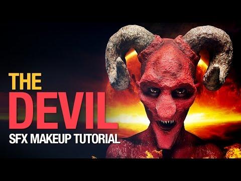 Devil halloween makeup tutorial