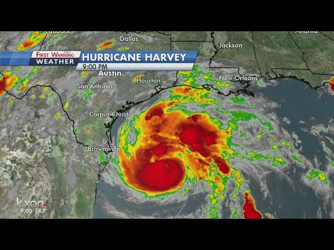 Harvey holding as a Category 1 hurricane but continually strengthening
