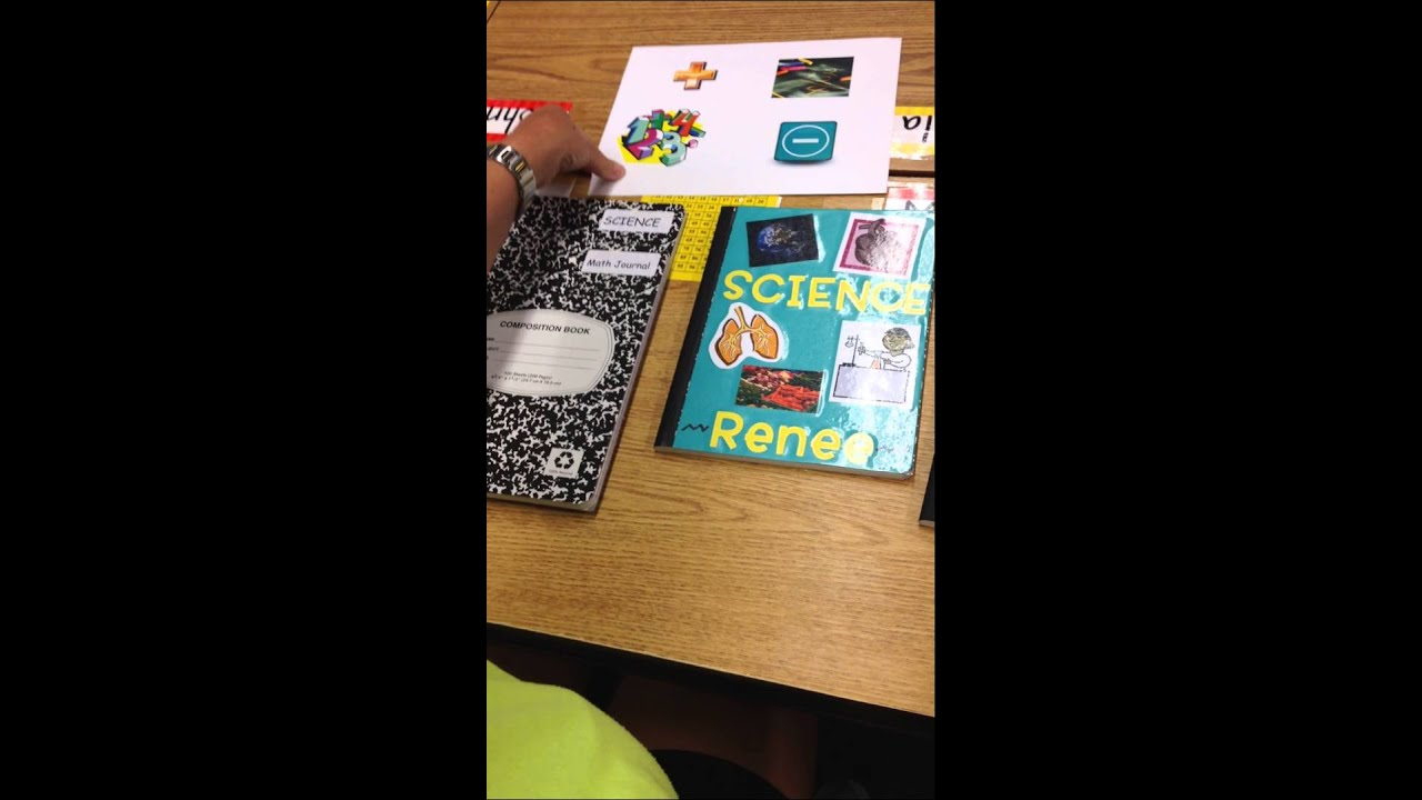 Science Book Cover Ideas : Math science notebook decoration hw youtube
