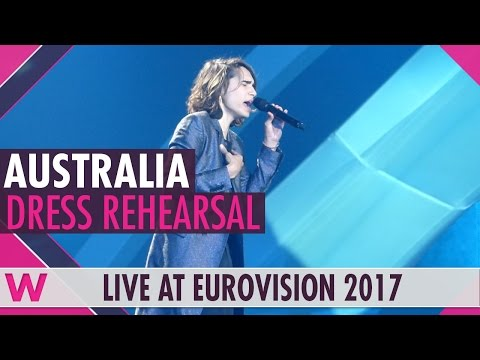 "Australia: Isaiah Firebrace ""Don't Come Easy"" grand final dress rehearsal @ Eurovision 2017"