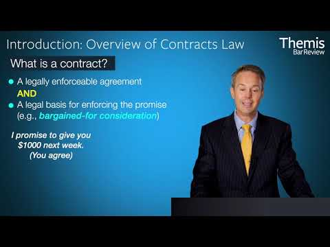Themis Bar Review - Contracts Law Introduction - Law School Essentials: First Year