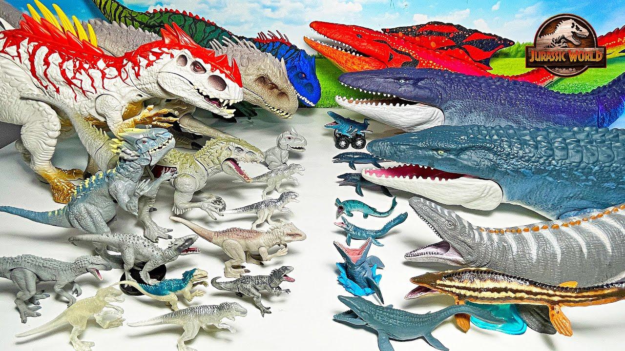 Extreme Collection! Mosasaurus vs Indominus Rex - Jurassic World Dinosaurs Camp Cretaceous