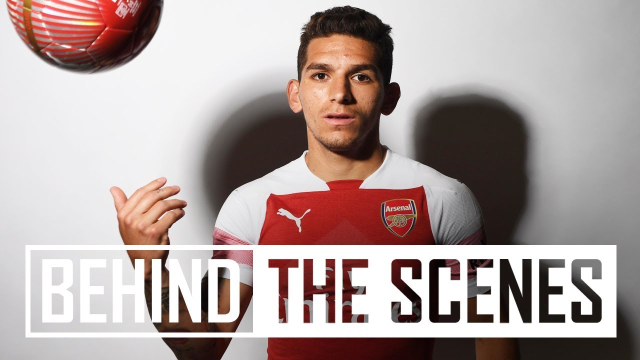 3fda32baaad Lucas Torreira s first day at Arsenal
