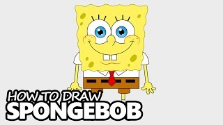 How to Draw SpongeBob SquarePants - Easy Step by Step Video Lesson