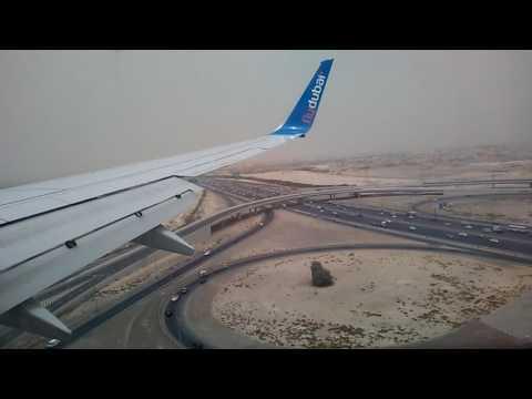 FlyDubai landing in dubai