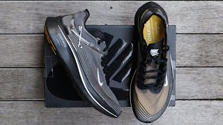 NIKE ZOOM FLY SP x GYAKUSOU (BLACK) | unboxing - overview & on-feet!!
