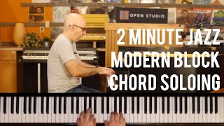 the secret to modern block chord soloing - peter martin | 2 minute jazz