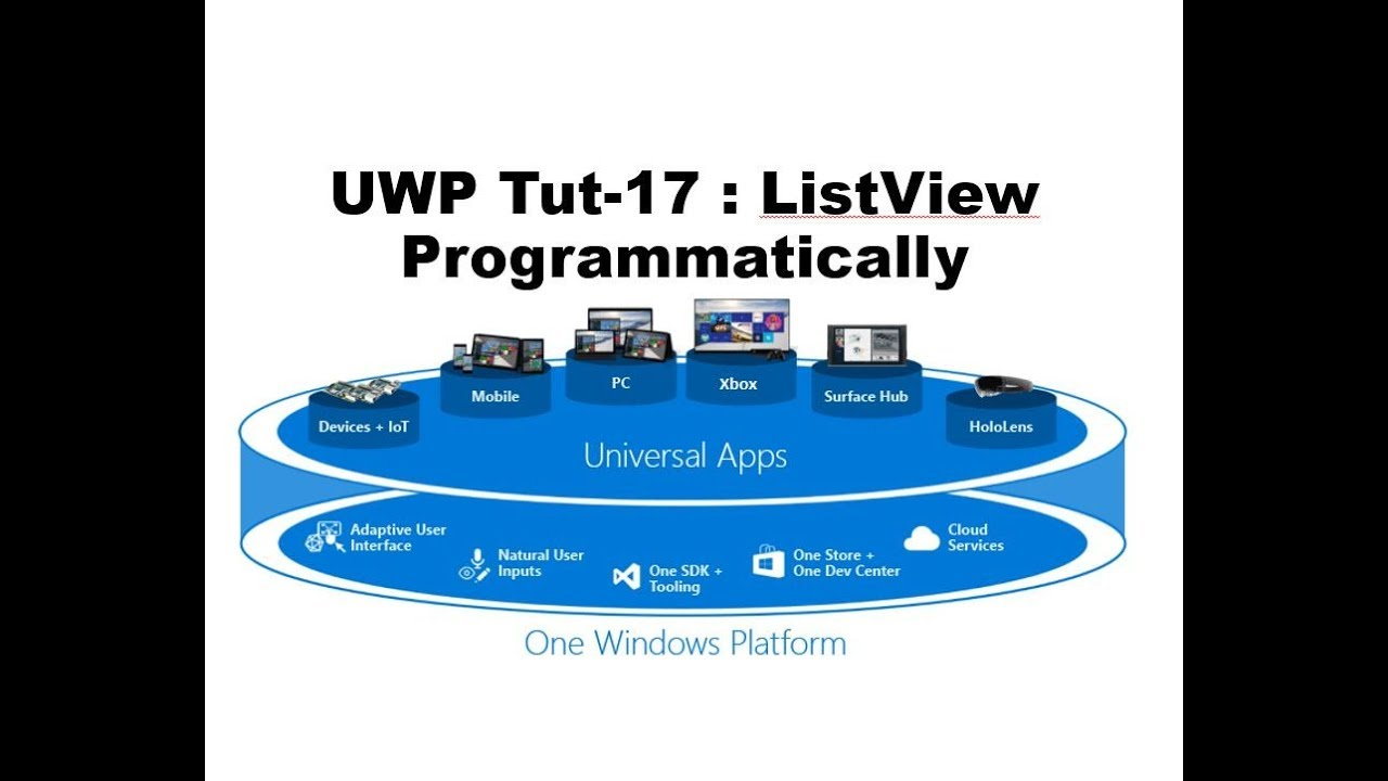 Create ListView Programmatically in UWP Tutorial Part-17