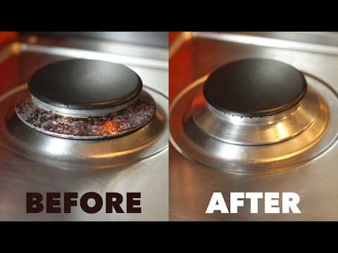 HOW TO CLEAN EASILY A GAS COOKER BURNER !