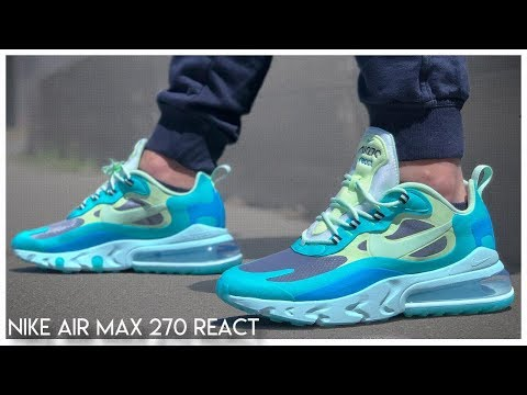 air max 270 react hyper jade on feet