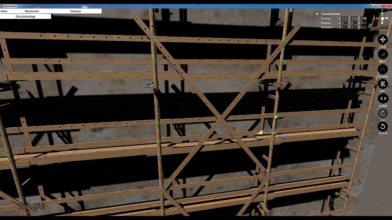 holzgerüst aufbau3/wooden scaffolding - youtube