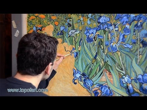 Art Reproduction Vincent Van Gogh Irises Hand Painted