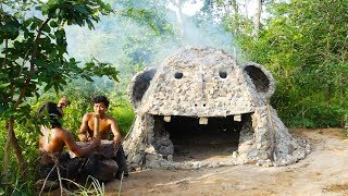 Most Creative - Building The Most Heated Stone Ghost House For Winter - Funny Halloween House