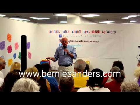 Bernie Sanders - Iowa HQ 9/5/15