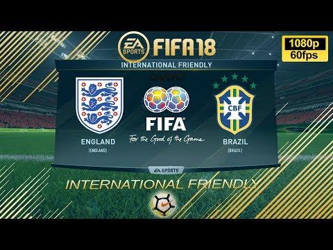 FIFA 18 England vs Brazil | International Friendly 2017 | PS4 Full Match