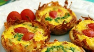 Potato Cup Frittata - How to Make Potato Cup Frittatas - Muffin Pan Frittatas