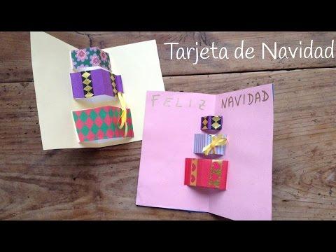Aprende cómo hacer tarjetas de navidad en 3D con unos bonitos regalos