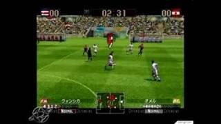 Virtua Striker 2002 GameCube Gameplay - Great crowds