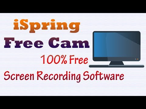 iSpring Free Cam 8 - Best 100% Free Screen Recording