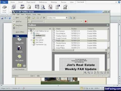 FaxTalk Fax Merge For Microsoft Word 2013 2010 2007 YouTube
