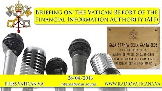 Briefing on the Report of the Financial Information Authority (AIF) - 2016.04.28