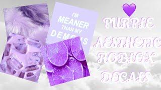 Purple Aesthetic Roblox Decals ~ Roblox Bloxburg