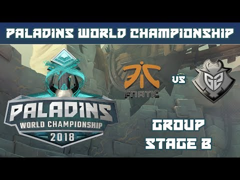 Paladins World Championship 2018: Group B - FNATIC vs. G2 Esports