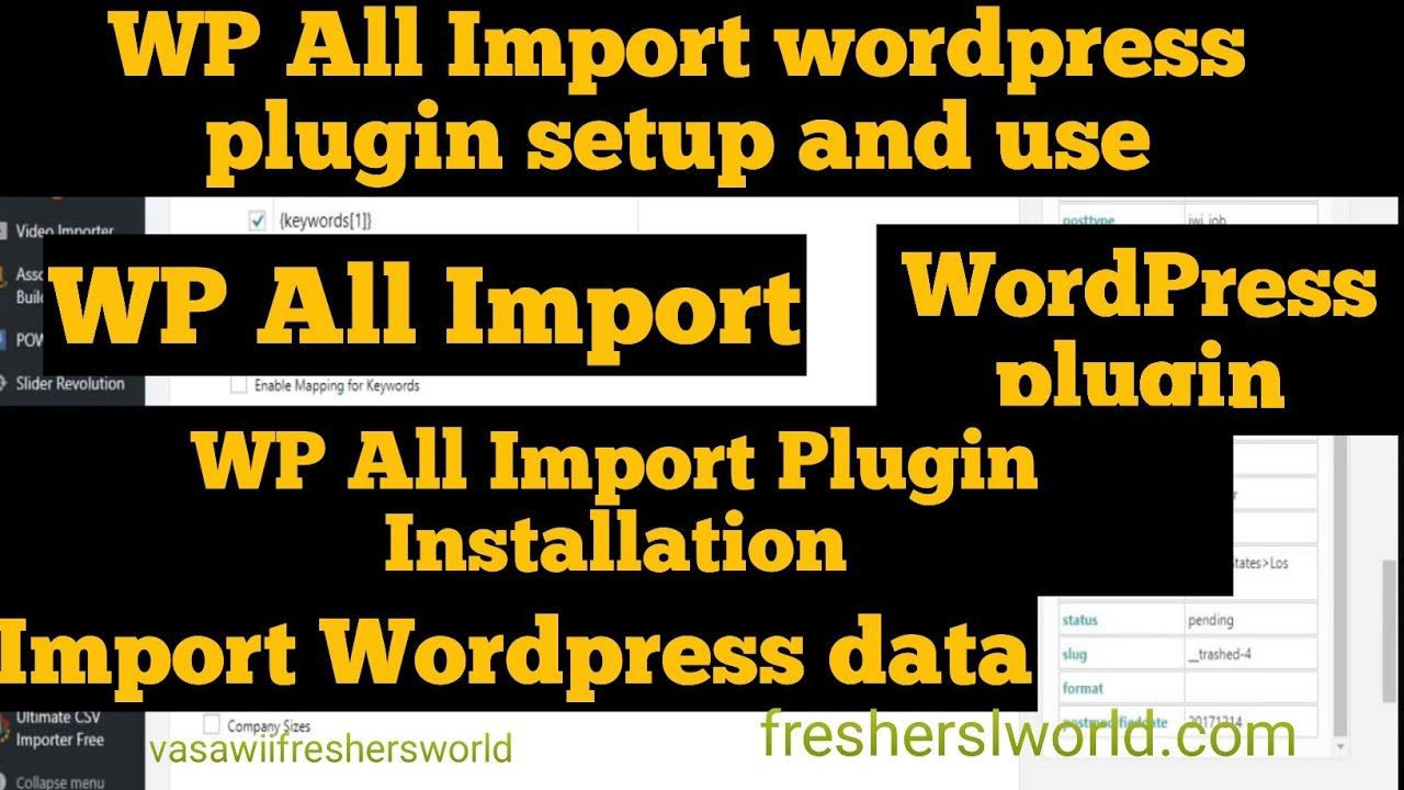 WordPress plugin -WP All