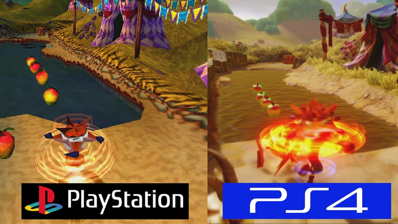 crash bandicoot psx vs ps4 graphics comparison