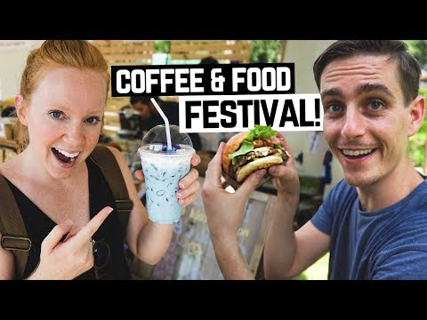 THAI FOOD & COFFEE FESTIVAL! + Beautiful Drone Flight (Chiang Rai, Thailand)